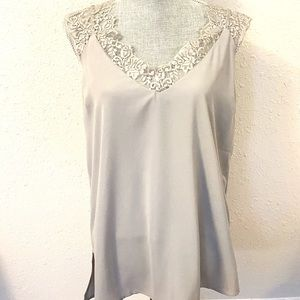 Umgee Pale Grey Camisole/Tank Top NWT